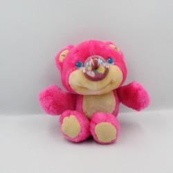Peluche ours rose NOSY BEAR ballon HASBRO Vintage