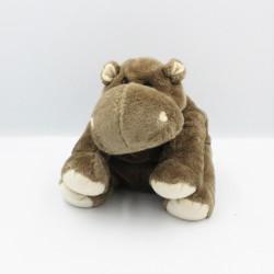 Doudou hippopotame marron NICOTOY 25 cm