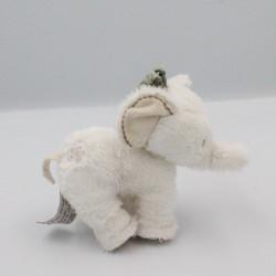 Doudou éléphant blanc TARTINE ET CHOCOLAT