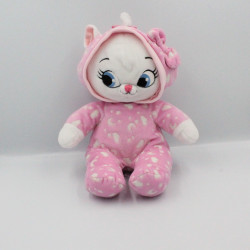 Doudou luminescent Chat Marie Les Aristochats rose qui brille Disney