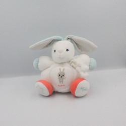 Doudou lapin blanc bleu orange Imagine KALOO