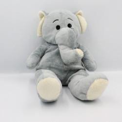 Peluche éléphant gris MAX ET SAX 38 cm