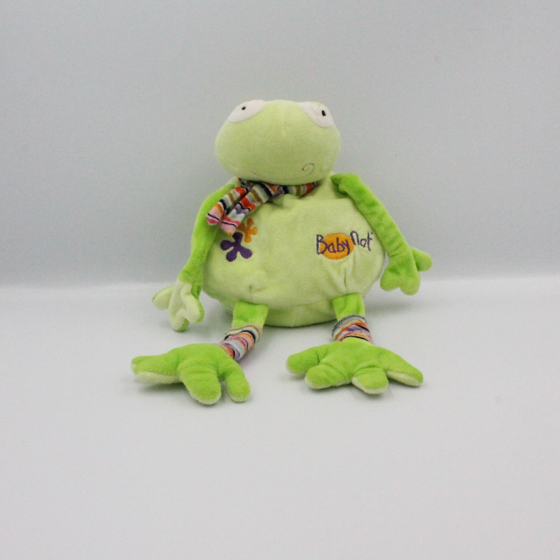 Doudou grenouille verte rayé BABY NAT