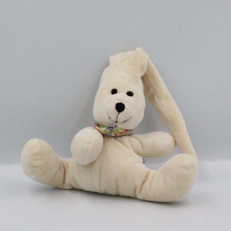 Doudou ours blanc foulard WENATEX