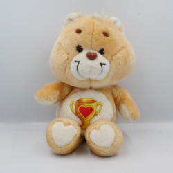 Ancienne Peluche Bisounours orange coupe Groschampion CARE BEARS 1985