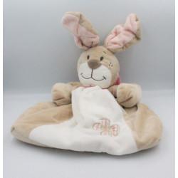 Range pyjama doudou lapin beige blanc noeud rose Oscarine NOUKIE'S