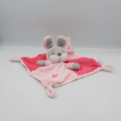 Doudou plat lapin gris rose blanc pois trop Mignonne Simba Toys