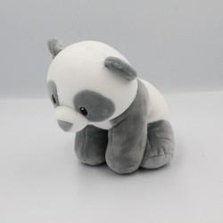 Peluche panda blanc gris TY INC