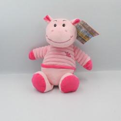 Doudou hippopotame rose LA PELUCHERIA