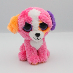 Peluche chien rose orange violet Gros yeux brillant TY