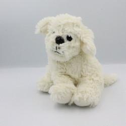 Doudou peluche chien blanc SANDY