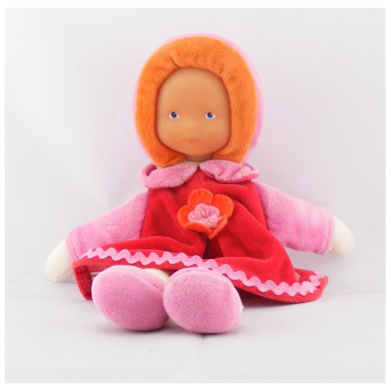Doudou poupée bébé robe rose fleur Mademoiselle Grenadine COROLLE