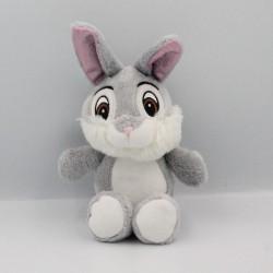 Doudou lapin gris oreilles rose satin Pan-pan Panpan DISNEY NICOTOY