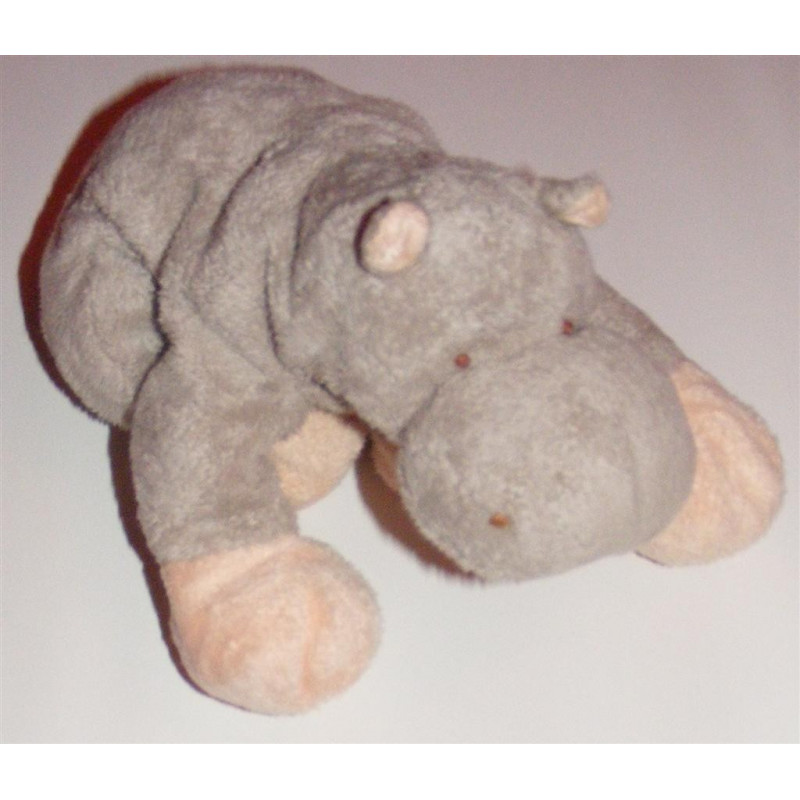 Doudou Hippopotame Gris Baby Nat