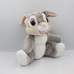 Doudou peluche lapin gris Pan-pan Panpan Bambi DISNEY NICOTOY