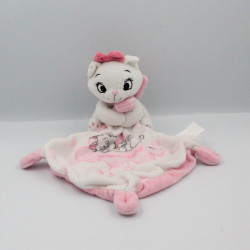 Doudou chat blanc rose Les Aristochats mouchoir Goodnight DISNEY