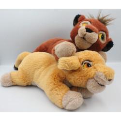 Peluche le roi lion Simba et Kovu DISNEYLAND