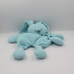 Doudou lapin bleu turquoise Lapidou NATTOU