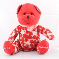 Doudou ours rouge fraises NOCIBE CACHAREL 2007