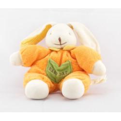 Doudou et compagnie lapin orange vert mouchoir