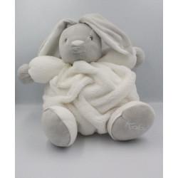 Doudou lapin plume gris blanc KALOO 33 cm