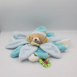 Doudou et compagnie collector ours fleur pétale bleu Tatoo