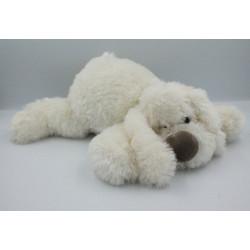 Doudou peluche chien blanc Cookie HISTOIRE D'OURS