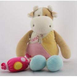 Doudou vache Cerise avec bonbon Doudou ET COMPAGNIE