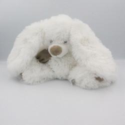 Doudou lapin blanc beige ENESCO