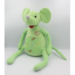 Peluche interactive une souris verte FAGOE