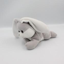 Doudou lapin gris blanc...