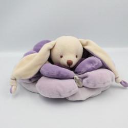 Doudou et compagnie lapin Bonnie pétale mauve violet carambole