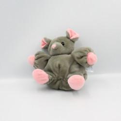 Doudou souris grise rose BLANCHET