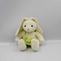 Doudou lapin blanc jaune sac vert fleur ANNA CLUB PLUSH