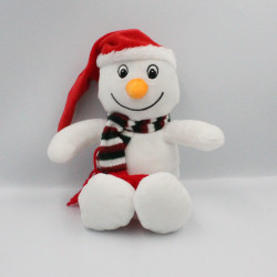 Doudou peluche bonhomme de neige écharpe SANDY