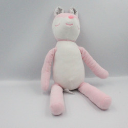 Doudou biche rose blanche TOM & KIDDY TOMKIDS
