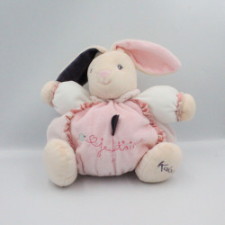 Doudou patapouf lapin rose violet coeur Je t'aime KALOO