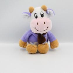 Doudou vache violet mauve écharpe marron MILKA