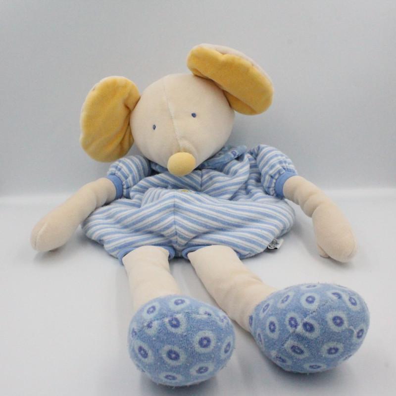 Doudou range pyjama souris grise Lise et Lulu MOULIN ROTY
