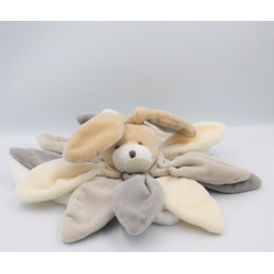 Doudou et compagnie plat lapin blanc beige gris taupe Collector