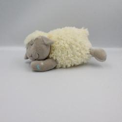 Doudou mouton blanc gris lune étoile CARRE BLANC