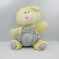 Peluche Puffalump souris jaune bleu Je t'aime CHAMTI