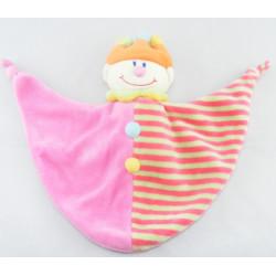 Doudou semi plat Clown multicolore couronne JOLLYBABY