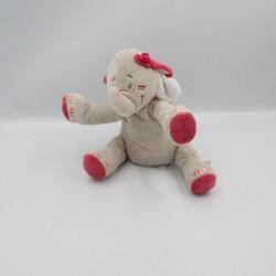 Doudou musical éléphant gris rose Anna et Pili NOUKIE'S