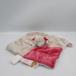 Doudou plat éléphant gris rose Anna et Pili NOUKIE'S