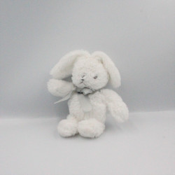 Doudou lapin blanc noeud gris Conejito AIR VAL INTERNATIONAL