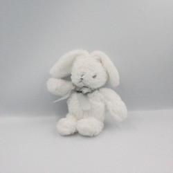 Doudou lapin blanc noeud gris Conejito AIR VAL INTERNATIONAL