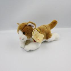 Peluche chat blanc marron MIYONI AURORA
