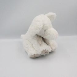 Doudou et compagnie éléphant blanc beige taupe