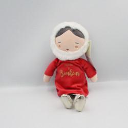 Doudou poupée fillette rouge Noël Toujours de bonheur TAPE A L'OEIL TAO